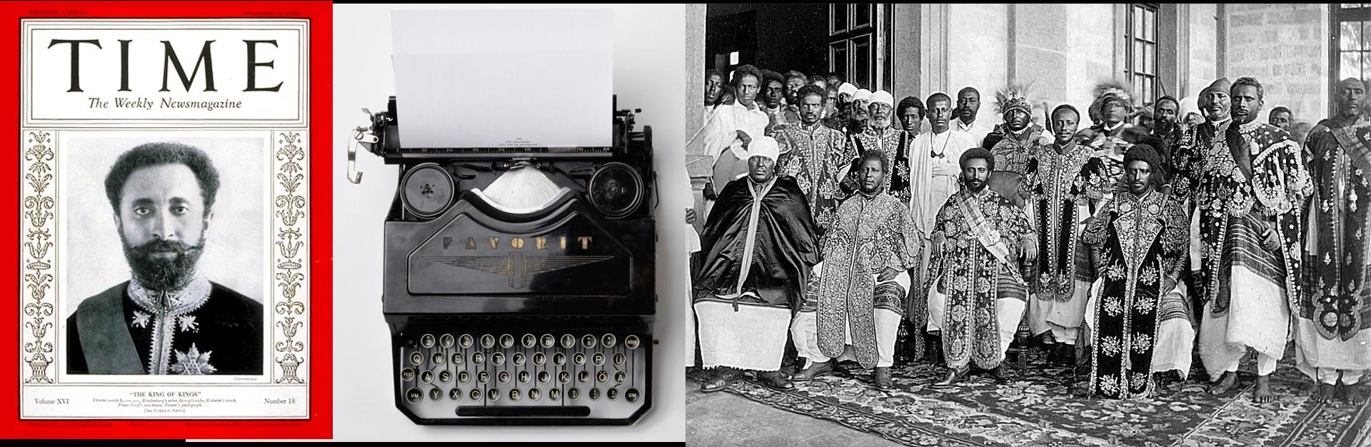 Waugh's typewriter, Haile Selassie